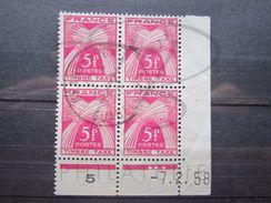 "VEND TIMBRES TAXES DE FRANCE N° 85 EN BLOC DE 4 COIN DATE , OBLITERATION "" GRAND-BOURG - GUADELOUPE "" !!! (b) - 1921-1960: Periodo Moderno"