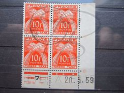 "VEND TIMBRES TAXES DE FRANCE N° 86 EN BLOC DE 4 COIN DATE , OBLITERATION "" GRAND-BOURG - GUADELOUPE "" !!! - 1921-1960: Periodo Moderno"