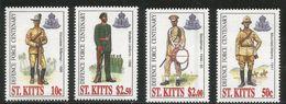1996 St. Kitts Military Uniforms   Complete Set Of 4 MNH - St.Kitts-et-Nevis ( 1983-...)