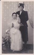 FOTO BAMBINA PRIMA COMUNIONE BRINDISI 1950 CM 8X14 - Personnes Anonymes