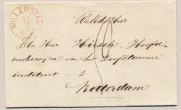 Nederland - 1856 - Complete Vouwbrief Van WILLEMSTAD (PEP 5500-08) Naar Rotterdam - ...-1852 Voorlopers