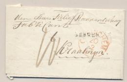 Nederland - 1858 - Complete Vouwbrief Van WERKENDAM (PEP 5490-01) Naar Kralingen - Nederland