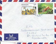 Rwanda 1992 Gisenyi Alphabetism Leopard Cover - 1990-99: Oblitérés