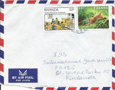 Rwanda 1992 Gisenyi Alphabetism Leopard Cover - 1990-99: Afgestempeld