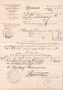 AVENANT JOINVILLE CHANTECAILLE BORDEAUX , Navire LE CARBET  Pour Le Voyage E FORT DE FRANCE 1928(100 FÛTS RHUM) - Alimentaire