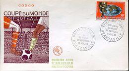 25418 Congo, Fdc  1966  World  Football Cup 1966,  Rimet Cup - 1966 – Inglaterra