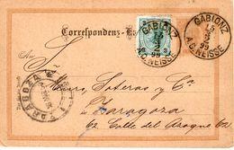 15 3 99 Beifrankierte Briefkarte Von GABLONZ Nach Zaragoza - Entiers Postaux