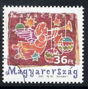 HUNGARY 2001 Christmas With Specimen / Muster Cancellation MNH / **.  Michel 4699 - Hungary