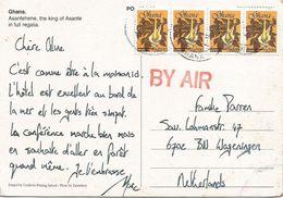 Ghana 1998 Elmina Amorphophallus Flavovirens Flower Viewcard - Ghana (1957-...)