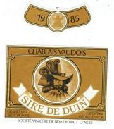Rare // Chablais Vaudois, Sire De Duin, Société Vinicole De Bex, Vaud // Suisse - Etiquettes
