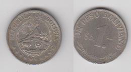1 PESO BOLIVANO 1968 - Bolivie