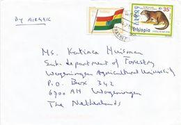 Ethiopia 1999 Shashema Spotted Necked Otter Flag Cover - Ethiopië