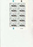 ST PIERRE ET MIQUELON   - FRAGMENT DE FEUILLE DE 10TIMBRES N° 493 - ANNEE 1988  - COTE : 20 € - Coin Daté - St.Pierre & Miquelon