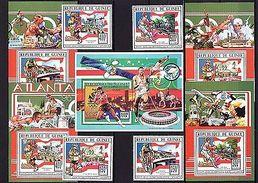 Guinea 1996 Sport Olympics MNH 1435-38A Bl.473-77A - Olympische Spelen
