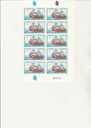 ST PIERRE ET MIQUELON   - FRAGMENT DE FEUILLE DE 10TIMBRES N° 482 - ANNEE 1987  - COIN DATE - COTE : 36 € - St.Pierre & Miquelon