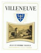 Rare // Villeneuve, Haute-Vue, J P Testuz Treytorrens-Dézaley, Vaud // Suisse - Etiquettes
