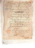 PUPIL Barthelemy Jean-Claude,Chevalier Seigneur De  MYONS,conseiller Du Roy.Jean Antoine De Reynault Est Vivant.1743 - Documents Historiques