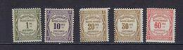 "FR Taxe YT 43 à 48 Ss 47 "" Typographie "" 1908-25 Neuf**/* - 1859-1955 Postfris"