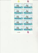 ST PIERRE ET MIQUELON   - FRAGMENT  FEUILLE DE 10TIMBRES N° 510 - ANNEE 1989  - - COTE : 14 € - St.Pierre & Miquelon