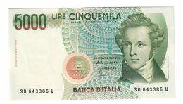 Italy 5000 Lire 1996 FDS UNC  .C. - [ 2] 1946-… : Républic
