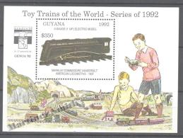 Guyana 1993 Yvert BF 123, Reduced Train Models - Miniature Sheet - MNH - Guyana (1966-...)