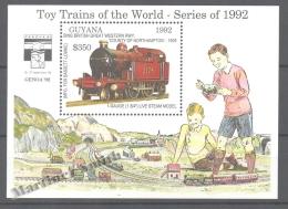 Guyana 1992 Yvert Michel BF 216, Reduced Train Models - Miniature Sheet - MNH - Guyana (1966-...)