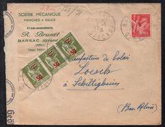 BARSAC - GIRONDE / 1941 LETTRE CENSUREE POUR SCHILTIGHEIM - ALSACE (ref 311) - Cartas