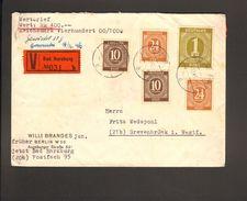 Alli.Bes.Wertbrief M.2 X 10,2 X 24 Pfg.u.1RM Ziffer Portogerecht V.1946 Aus Bad Harzburg - Gemeinschaftsausgaben