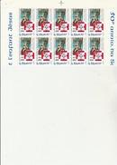 ST PIERRE ET MIQUELON   - FRAGMENT  FEUILLE DE 10 TIMBRES N° 483 - ANNEE 1987 - - COTE : 20 € - St.Pierre & Miquelon