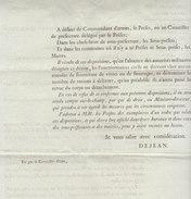 Empire, Gard, 1809, Au Sujet Du Droit Des Autorités Civiles à Passer Les Troupes En Revue - Historical Documents
