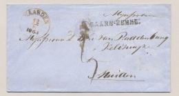 Nederland - 1865 - Envelop Met Stempels NAARDEN En BAARN-EEMNES Naar Muiden - Niederlande