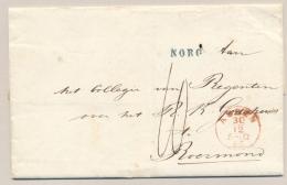 Nederland - 1865 - Complete Vouwbrief Van NORG (PEP 0126-01) Via ASSEN Naar ROERMOND - ...-1852 Voorlopers