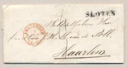 Nederland - 1868 - Complete Vouwbrief Van SLOTEN (PEP 6285-01) Via AMSTERDAM Naar HAARLEM - Niederlande