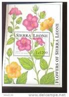 SIERRA LEONE  1671  MINT NEVER HINGED SOUVENIR SHEET OF FLOWERS - ORCHIDS   #  726-3   ( - Végétaux