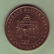 Médaille. Jeton Touristique - Monnaie De Paris - AVEYRON - Conques - Abbaye Sainte Foy - 2003 - - Monnaie De Paris