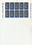 ST PIERRE ET MIQUELON   - FRAGMENT  FEUILLE DE 10 TIMBRES N° 496 - ANNEE 1988 - - COTE : 18,75 € - St.Pierre & Miquelon