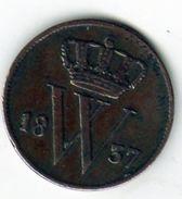 Pièce De Monnaie Des Pays-bas - 1 Cent Cuivre 1837 En T T B - - 1815-1840 : Willem I