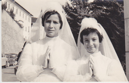 FOTO BAMBINE PRIMA COMUNIONE  1950 9X14 CM - Persone Anonimi