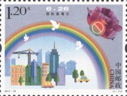 CHINA VR 2017-15 ** Int. Day Against Drugs Tag Gegen Drogen 1v - OFFICIAL ISSUE - DHCHN - 1949 - ... Volksrepublik