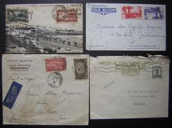 Maroc : Lot De 3 Lettres Et 1 Carte, Voir Photos ! - Marruecos (1891-1956)