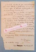 L.A.S 1869 Emile EGGER - Helléniste - Paris (rue Madame) - Royat - Lettre Autographe LAS - Autógrafos