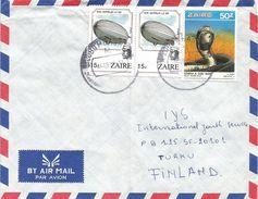 Zaire Congo 1988 Lubumbashi Cobra Snake Zeppelin Air Balloon Cover - Zaïre