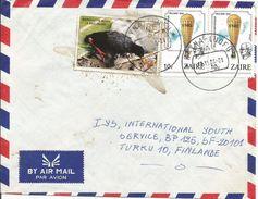 Zaire Congo 1988 Kayna Luofo Water Bird Hot Air Balloon Cover - Zaïre