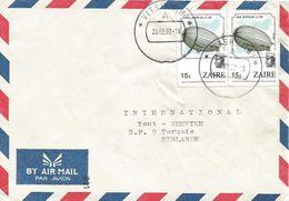 Zaire Congo 1987 Vitshumbi Zeppelin Air Balloon Cover - Zaïre