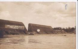 RARE Carte PHOTO Vers 1910 BLEWETT FALLS N.C , THE DAM / Construction D'un Barrage ? - Etats-Unis