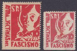 LOTE 1348  ///  (C105) GUERRA CIVIL 2 VIÑETAS REPUBLICANAS Nº 1544 Y 1548 CATL. G.GUILLAMON - Emisiones Repúblicanas