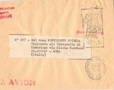 25592. Fragmento Carta Aerea TANANARIVE (Madagascar) 1987, Flamme - Madagascar (1960-...)