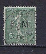"""FR Franchise YT 3 """" Semeuse Lignée 15 Vert-olive"""" 1901-04 Oblitéré - Franchise Militaire (timbres)"""