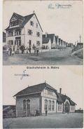 BISCHOFSHEIM B. MAINZ: DAMMSTRASSE ET BAHNNHOF.1919.PETITE TACHE .PETIT PRIX.COMPAREZ!!! - Allemagne
