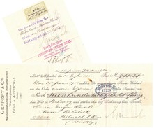 Bühl In Baden 1901, Wechsel, Geppert & Cie, Weinhandlung - Wechsel